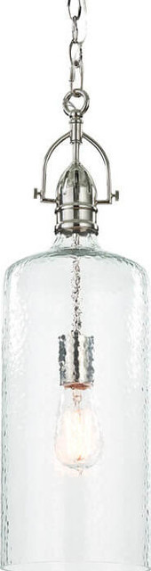 Bar Pendant, Polished Nickel.