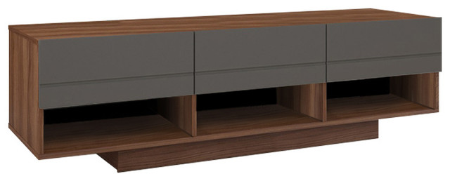 "Nexera 105142 Radar Tv Stand, 60"", Walnut/charcoal."