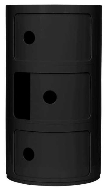 Componibili Small Round Storage Modules by Kartell, Black