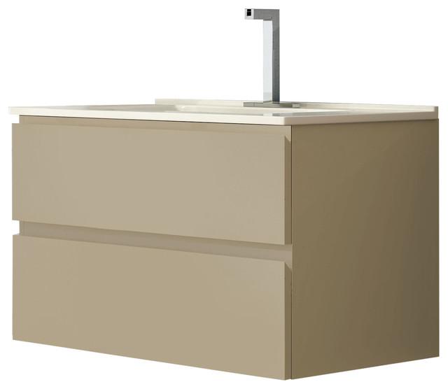 Duna Bathroom Vanity Set Mocha 100 Cm Modern Bathroom Vanity Units