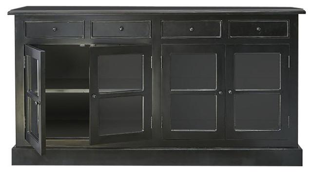 London Mahogany 4-Door Sideboard, 4 Drawers