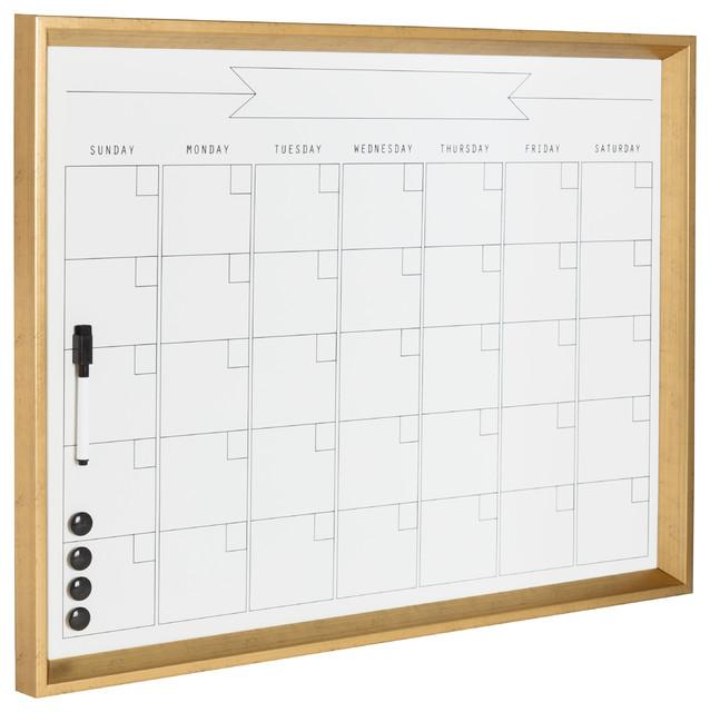 Calder Framed Magnetic Dry Erase Monthly Calendar