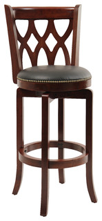 Dune Cathedral Swivel Bar Stool, Cherry
