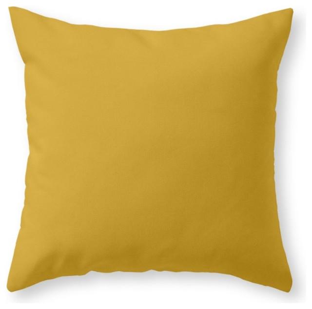 Society6 Mustard, Throw Pillow - Contemporary - Decorative Pillows - by Society6