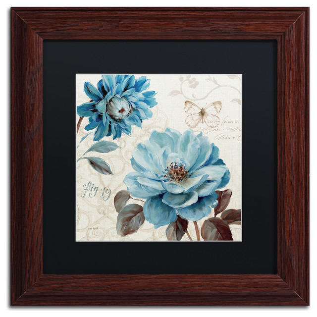 Lisa Audit A Blue Note Iii Matted Framed Art Traditional Prints And Posters By Trademark Global
