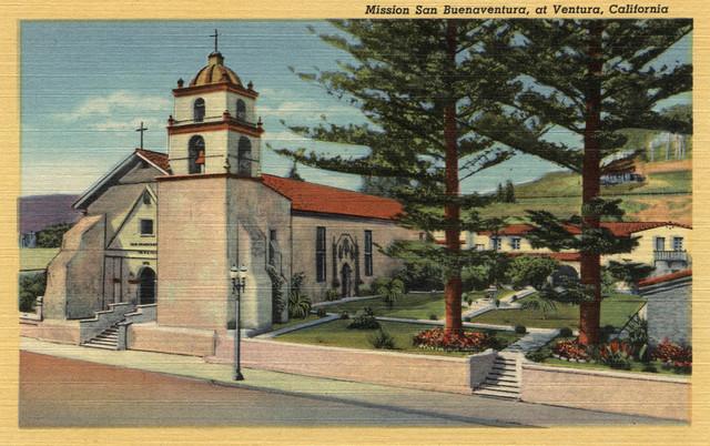 Quot View Of Mission San Buenaventura Quot Print Contemporary
