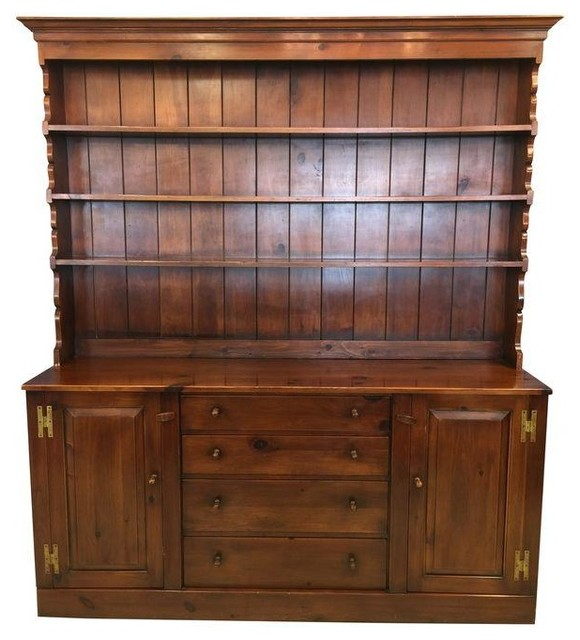 Vintage Pine Hutch by the Pine Shop - Modern - Storage Cabinets ...