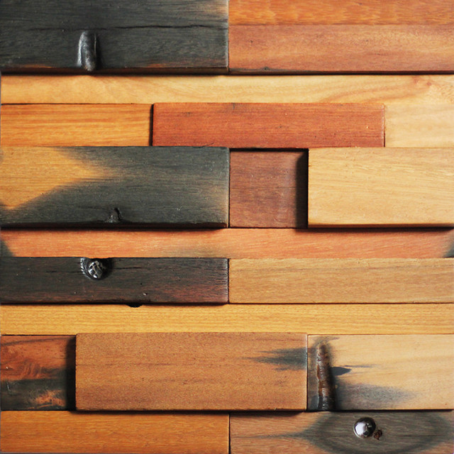 "Wall Art Panels 12""x12"" reclaimed wood wall panels handcrafted wall art - rustic"