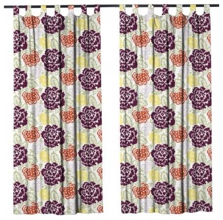 "Harrietta Curtain Panel, Multicolored, 50""x90""."