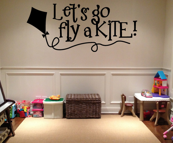 Lets go fly a kite Vinyl Wall Decal hd083 Contemporary Wall
