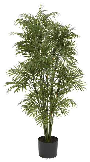 nearly natural home accent 4' plastic parlour palm tree - tropical