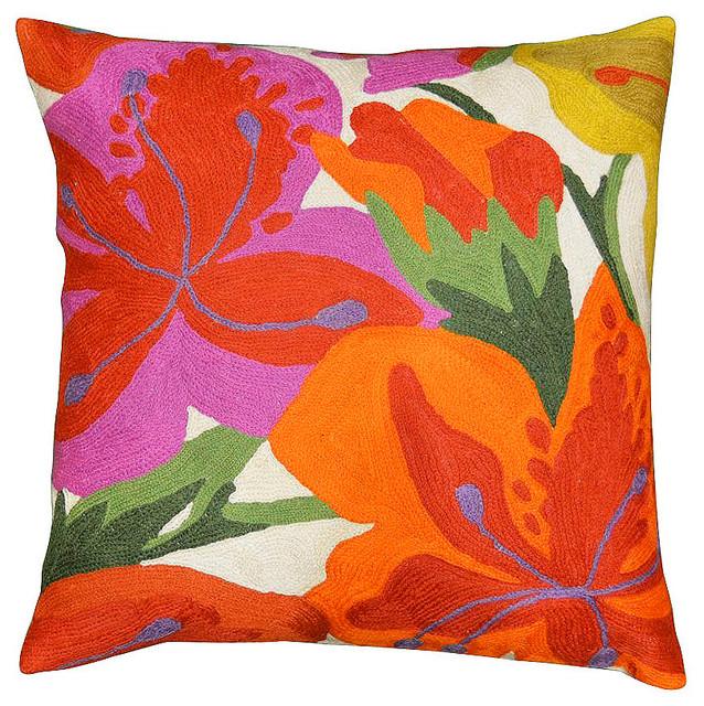 Fl Bloom Modern Accent Pillow Cover