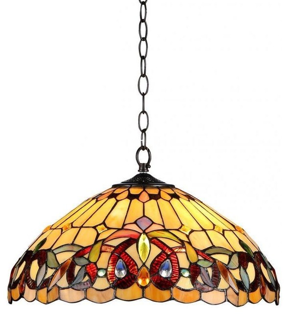 Serenity 2-Light Victorian Ceiling Pendent Fixture.