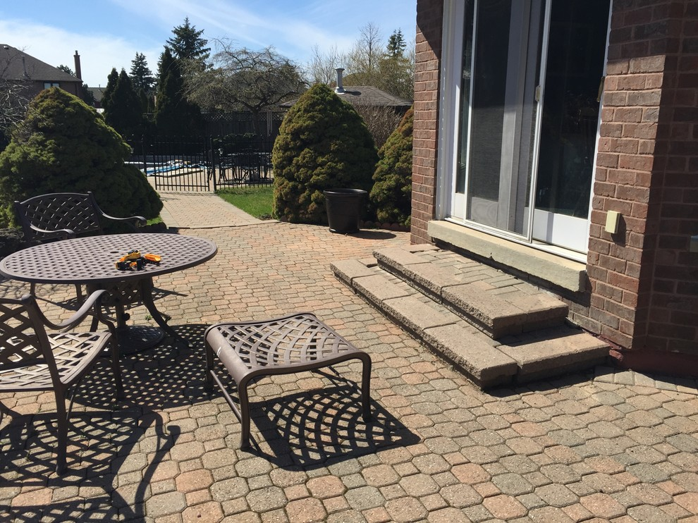 Vaughan Backyard Before Picture of Existing Patio Area