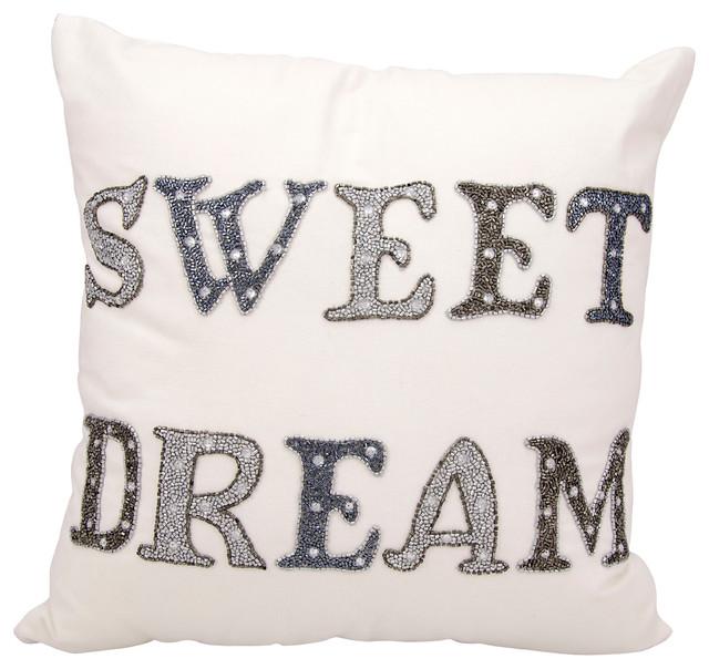Kathy Ireland Sweet Dreams White Throw Pillow Contemporary Inspiration Sweet Dreams Decorative Pillows