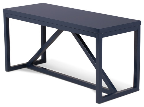 Kaya Wood Bench, Navy Blue