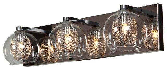 aeria 3 light dimmable led metal foil glass vanity chrome rh houzz com