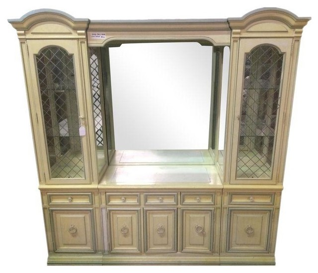 Stanley Vintage Marble Top China Cabinet Buffet - Dressers - by ...