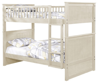 Hudson Bunk Bed, Whitewash, Twin Over Twin