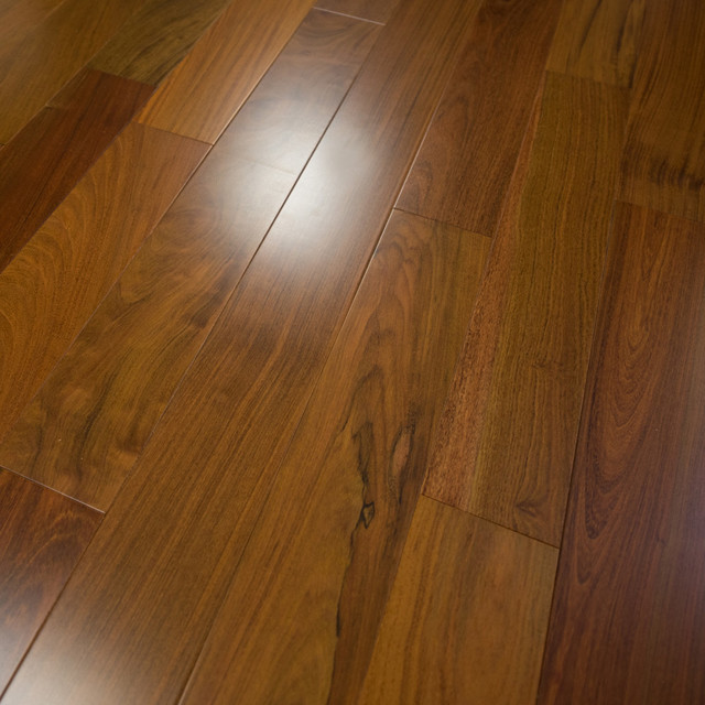 Brazilian Walnut Prefinished Engineered Wood Flooring, 3mm, Sample.