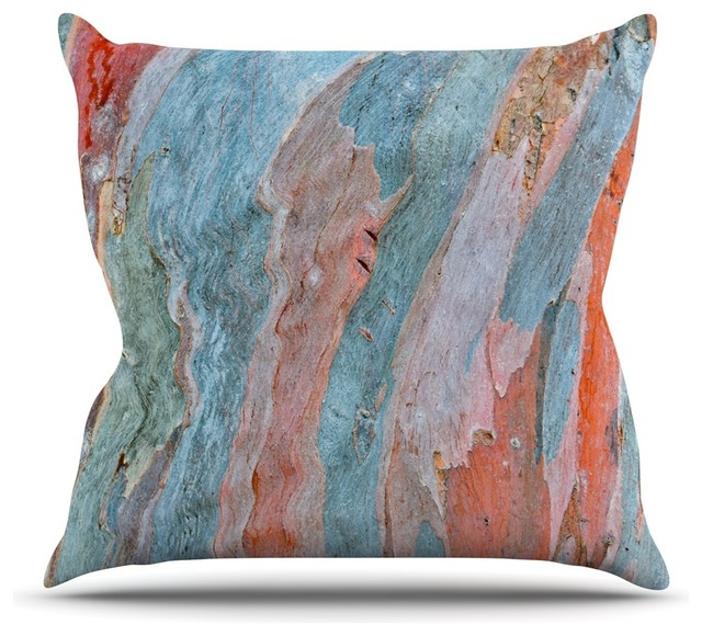 Susan Sanders Beach Dreams Orange Blue Throw Pillow Contemporary Cool Orange And Blue Decorative Pillows