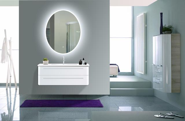 """Mahe Oval Led Acrylic Mirror, 24""""x30""""."""