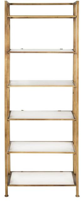 Safavieh Kimmy Etagere White Bookcases Houzz