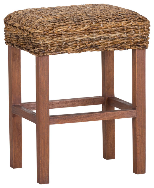 Kosas Home Micu 24 Quot Backless Abaca Counter Stool