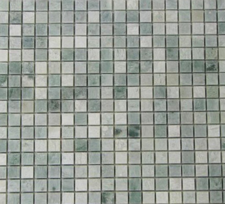 Ming Green Polished Pattern Mesh Mounted Marble Tiles