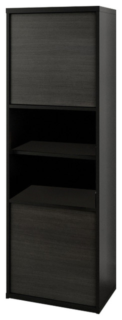 Sereni-T 2-Door Bookcase, Black And Ebony.