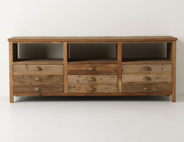 Illusorio Console - Rustic - Entertainment Centers And Tv Stands - by Anthropologie