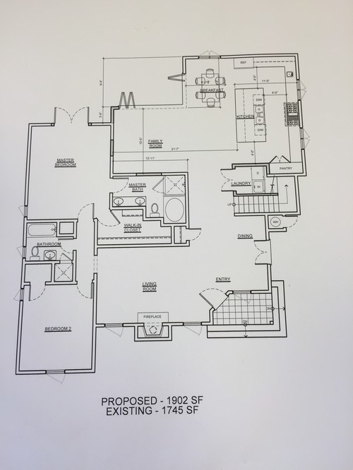 Remodel Of Common Area Spacing Issues
