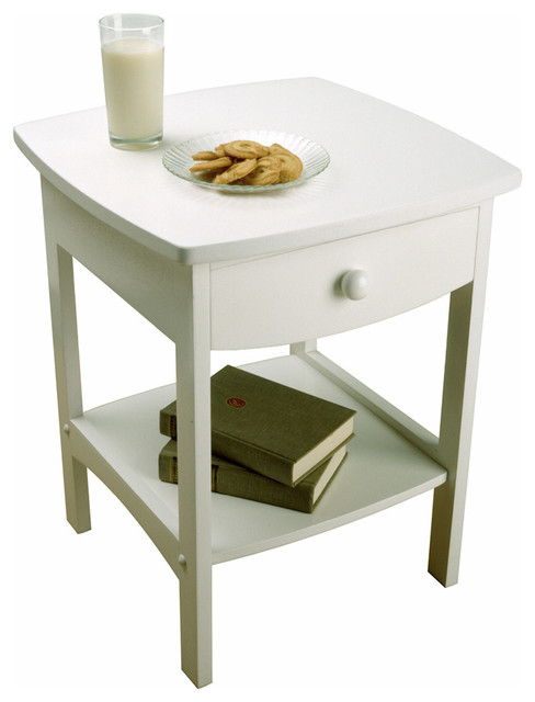 Tyson Side Table, White. -1