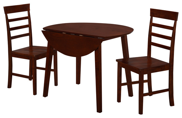 Harrison Dining Table With Two Chairs Transitional