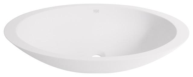 Vigo Wisteria Matte Stone Vessel Bathroom Sink.