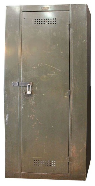 Vintage Industrial Berloy Factory Cabinet Locker - Industrial - Storage Cabinets - by Chairish
