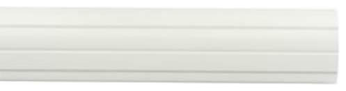 "Kirsch Wood Trends Classics Fluted 3"" Drapery Pole, White 8&x27;."