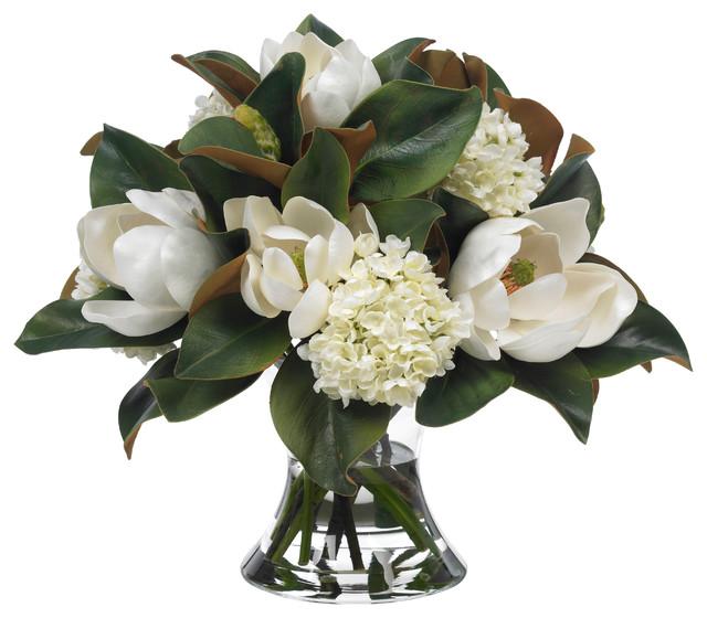 Diane James Large Magnolia And Hydrangea Bouquet