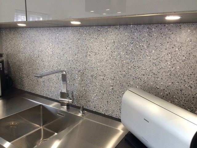 Stone Effect Splashback Modern London By Lwk