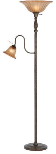 Cal Lighting Bo-2052 2 Light Pedestal Base Torchier Floor Lamp.