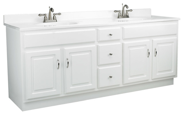 Cute Transitional Bathroom Vanities And Sink Consoles by Design House