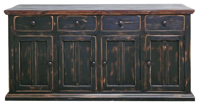 Dallas Buffet, Stone Brown - Buffets And Sideboards - by Million Dollar Rustic