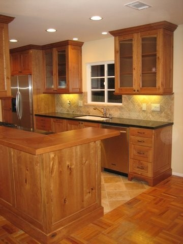 galley kitchen remodel before and after - traditional - kitchen