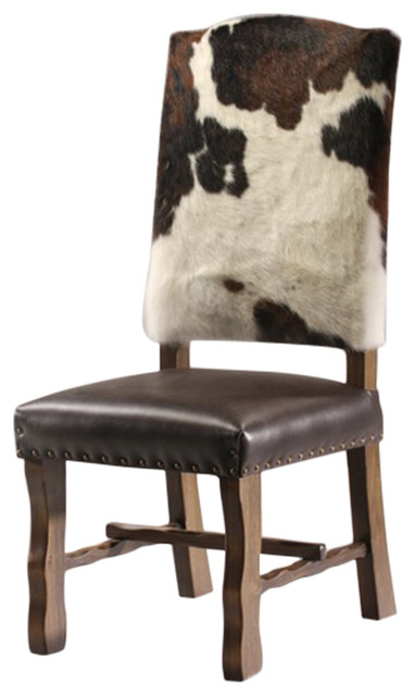 Western Style Cowhide Dining Chair