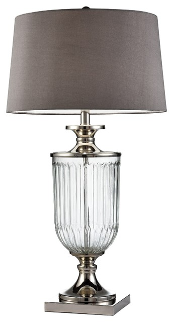"""32.5"""" Amelie Glass Table Lamp."""