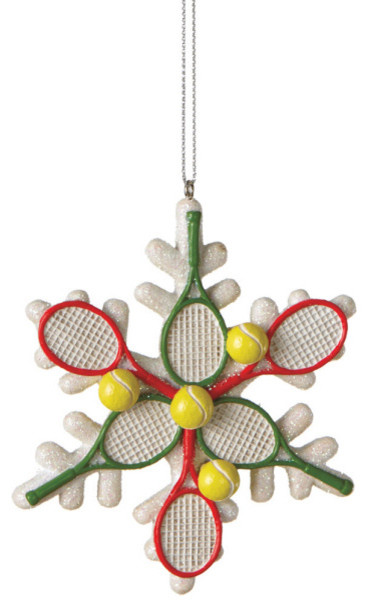Midwest-CBK Tennis Racquet Snowflake Christmas Tree ...