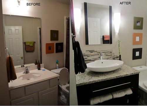 Budget friendly makeover of guest bathroom for Contemporary guest bathroom ideas