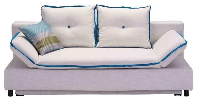 Zuo Modern Serenity Sleeper Sofa in Beige Contemporary Sleeper