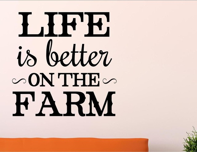 Life is Better on the Farm Vinyl Sticker Decal