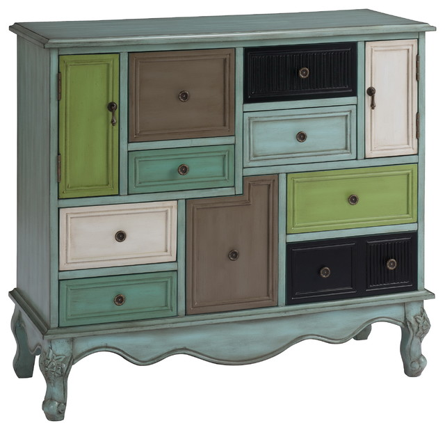 9-Drawer 2-Door Cabinet - Traditional - Dressers - by HedgeApple